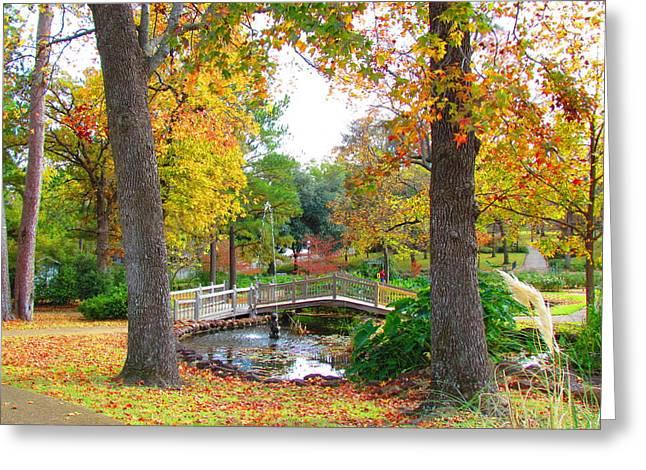 Park In Tyler Greeting Card by Evgeniya Sohn Bearden