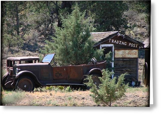 Parked At The Trading Post Greeting Card by Athena Mckinzie