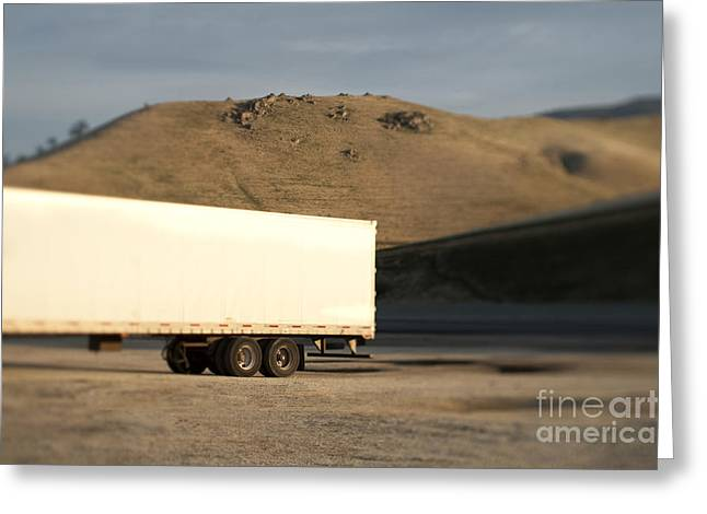 Parked Semi Trailer Greeting Card by Eddy Joaquim