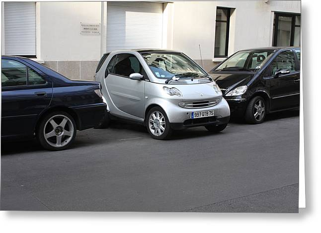 Parking In Paris Greeting Card