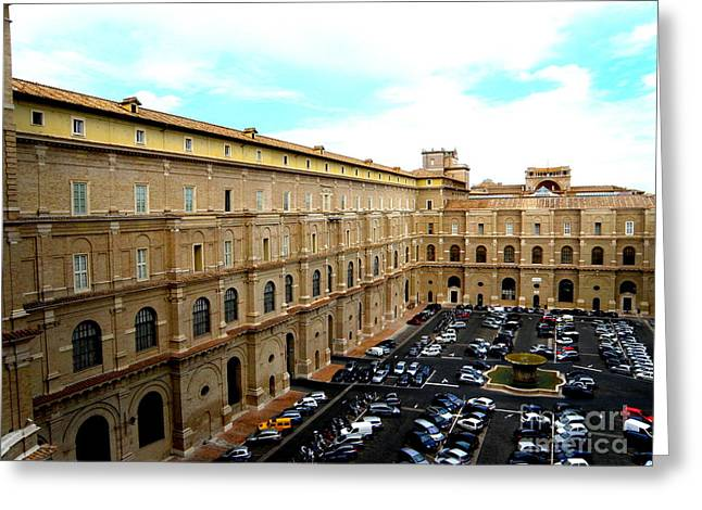 Greeting Card featuring the photograph Parking Lot In Vatican by Tanya  Searcy