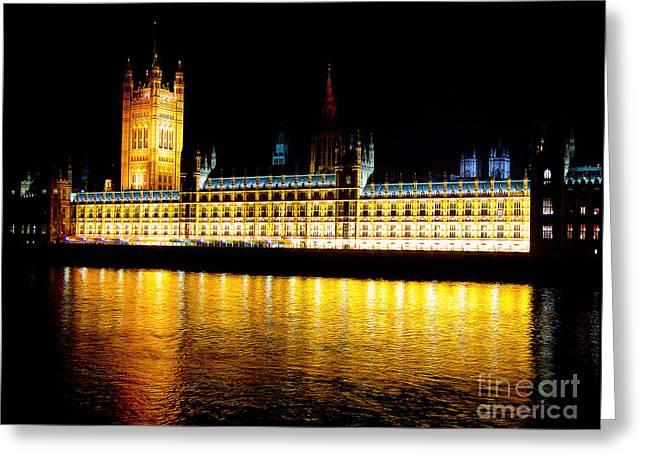 Parliament At Night Greeting Card by Thanh Tran
