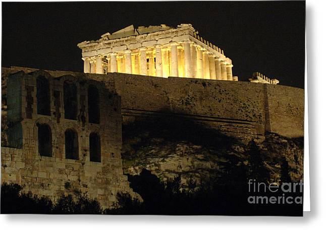 Parthenon Athens Greeting Card by Bob Christopher