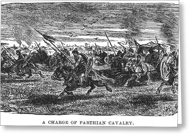 Parthian Cavalry Greeting Card by Granger