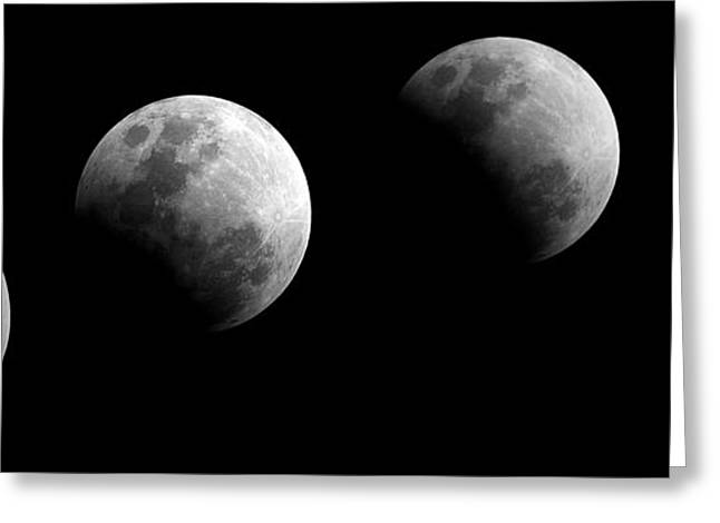 Partial Lunar Eclipse Greeting Card