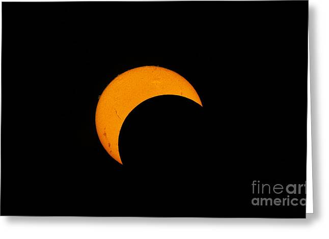 Partial Solar Eclipse Of 2012 Greeting Card by Phillip Jones