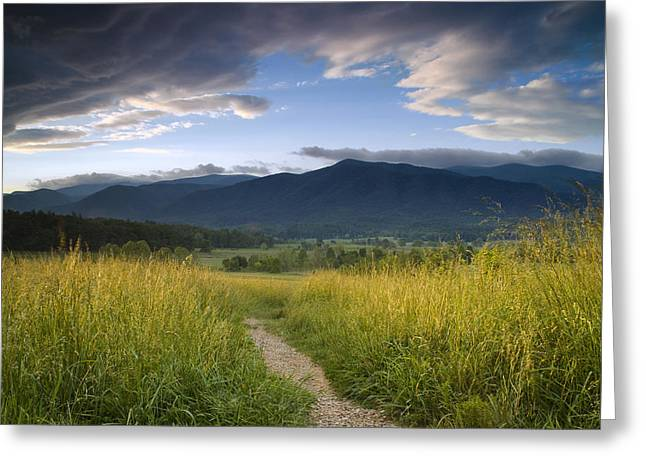 Parting Clouds At The Smokies Greeting Card by Andrew Soundarajan