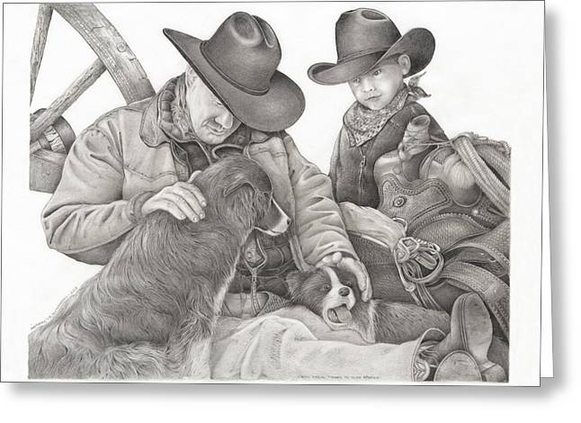 Partners Greeting Card by Bryan Austerberry