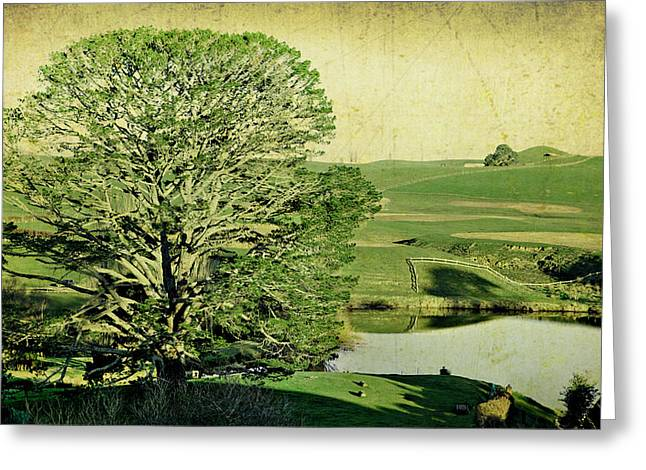Party Tree Hobbiton Greeting Card by Linde Townsend