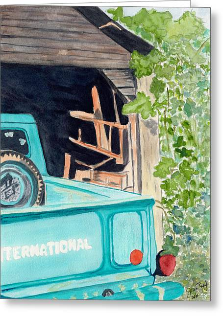 Pa's Truck Greeting Card