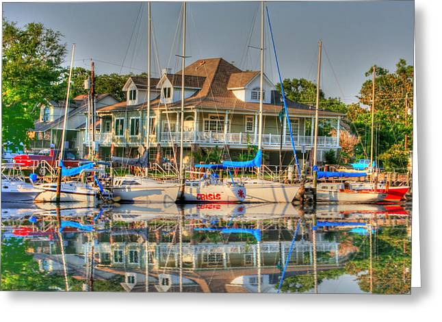 Pascagoula Boat Harbor Greeting Card by Barry Jones