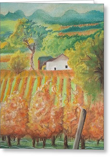 Paso Robles In The Fall Greeting Card by Terry Godinez