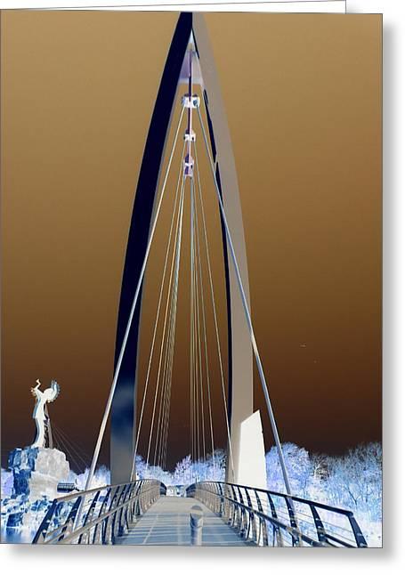 Passage Way Greeting Card by David Alvarez