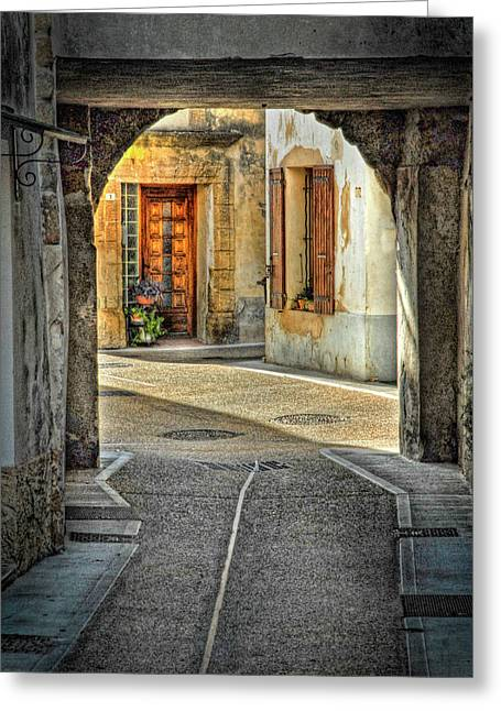 Greeting Card featuring the photograph Passageway And Arch In Provence by Dave Mills