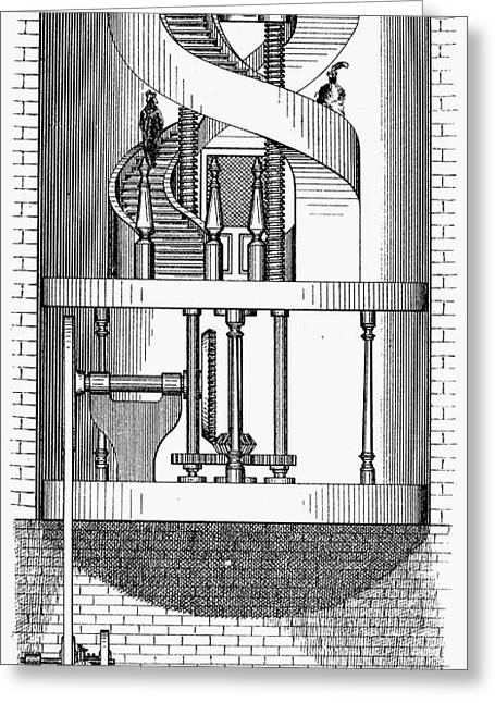 Passenger Elevator, 1876 Greeting Card by Granger