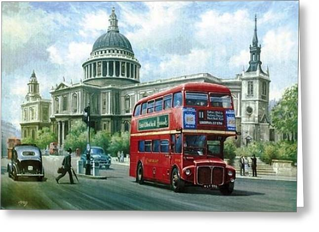 Passing St Pauls. Greeting Card by Mike  Jeffries