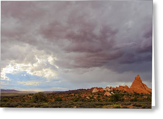 Passing Storm Greeting Card by Adam Pender