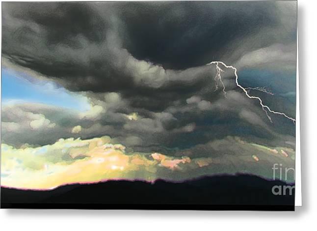 Passing Storm Greeting Card by David Klaboe