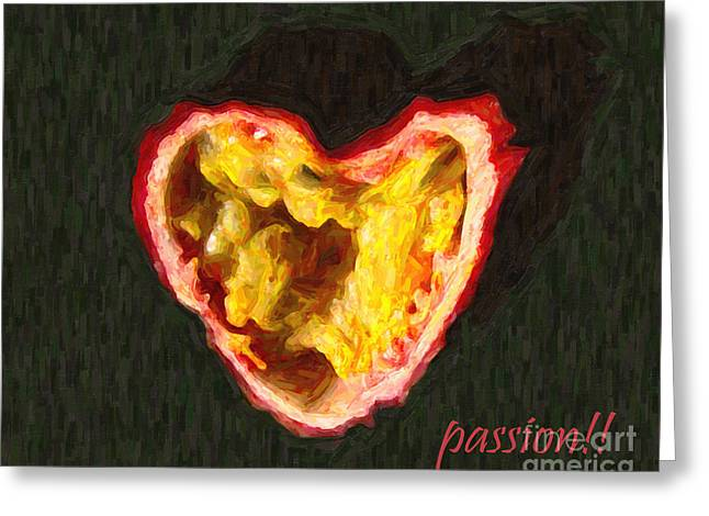 Passion Fruit With Text Greeting Card