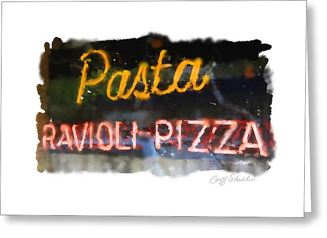 Pasta Greeting Card by Geoff Strehlow