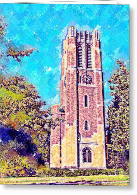 Pastel Beaumont Tower 2 Greeting Card by Paul Bartoszek