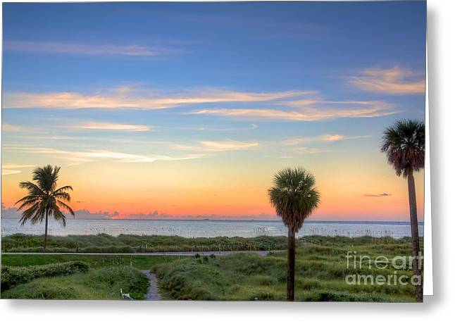 Pastel Dawn Greeting Card by William Wetmore
