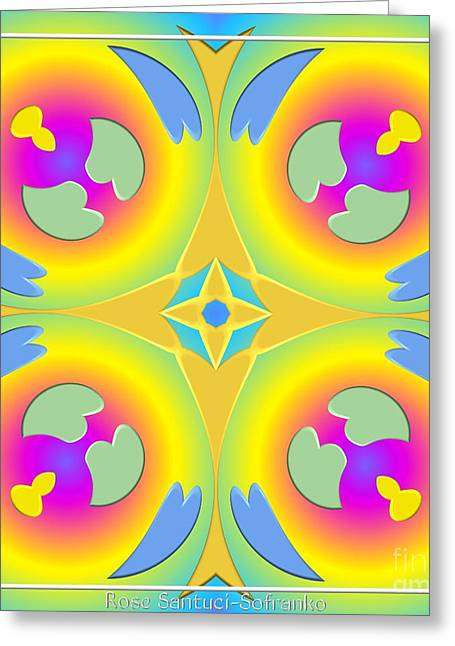 Pastel Hearts Warp 2 Greeting Card by Rose Santuci-Sofranko