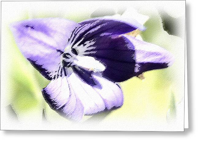 Pastel Iris Greeting Card by Susan Leggett