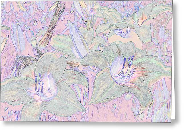 Pastel Lillies Greeting Card