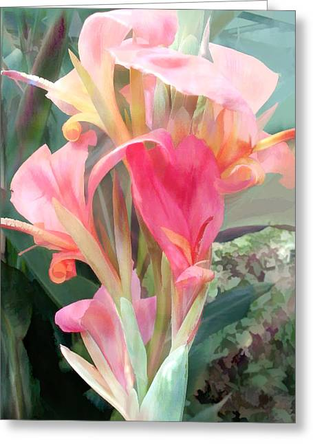 Pastel Pink Cannas Greeting Card