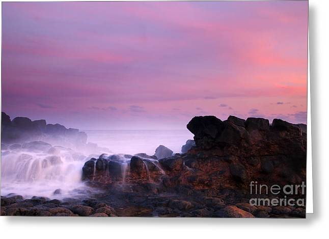 Pastel Salt Spray Greeting Card by Mike  Dawson