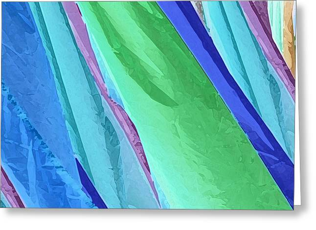 Greeting Card featuring the photograph Pastel Silks by Deborah Smith