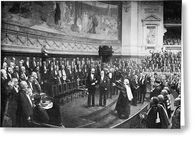 Pasteur's Jubilee Celebrations, 1892 Greeting Card