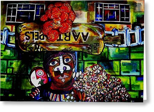 Patatoe Head Greeting Card by Brent Eric Allison