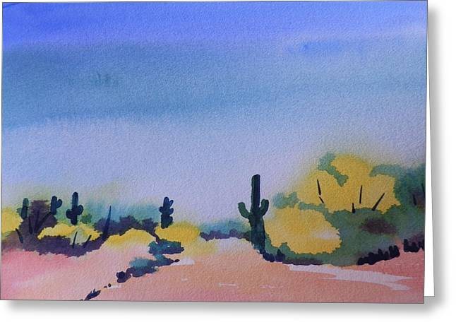 Path In The Desert Greeting Card