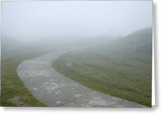 Path In The Fog Greeting Card by Matthias Hauser