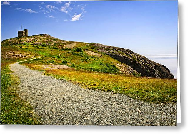 Path To Cabot Tower On Signal Hill Greeting Card