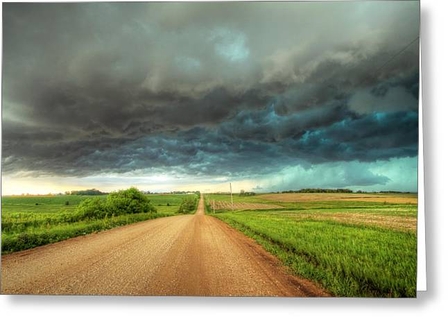 Path To Chaos Greeting Card by Evan Ludes