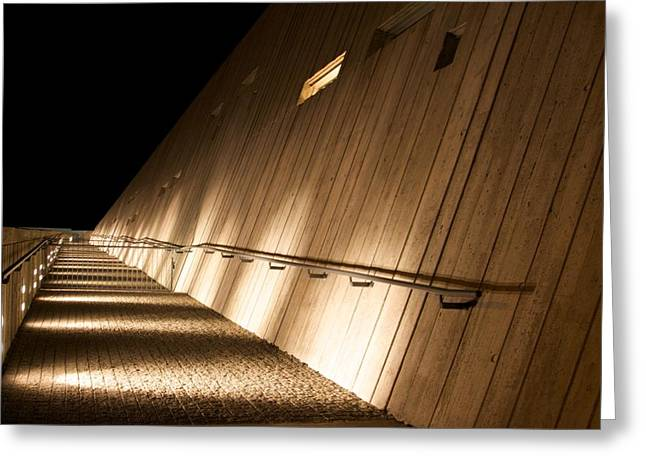 Greeting Card featuring the photograph Pathway Of Lights by JM Photography
