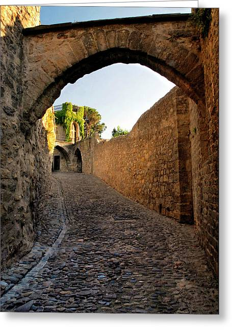 Greeting Card featuring the photograph Pathway Through Gordes France by Dave Mills