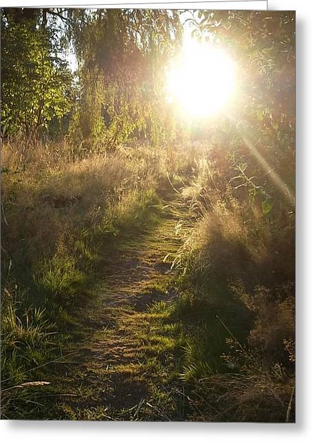 Pathway To The Light Of Heaven Greeting Card by Lee Yang