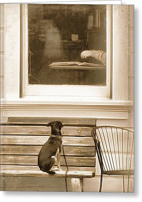 Patiently Waiting Greeting Card by Rich Beer