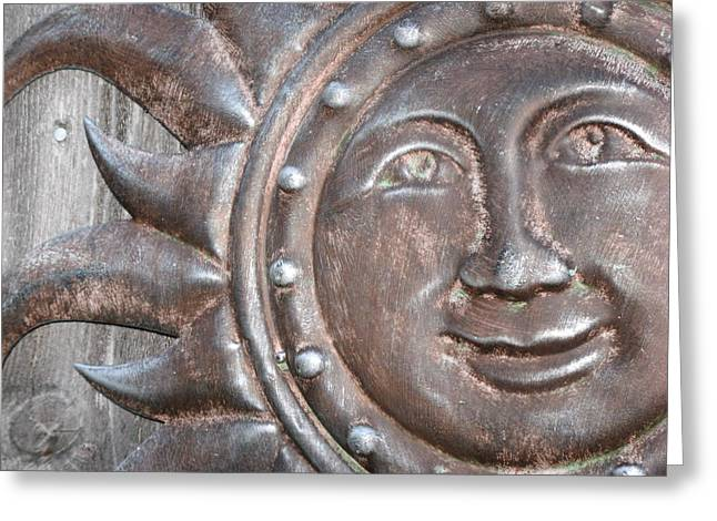Greeting Card featuring the photograph Patina Sun by Kimberly Mackowski