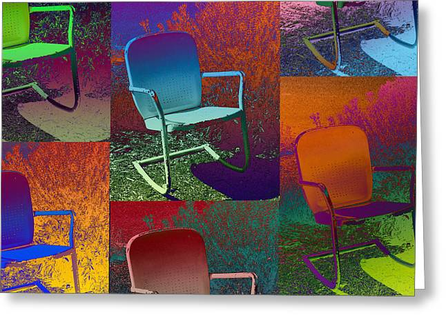 Greeting Card featuring the photograph Patio Chair by David Pantuso