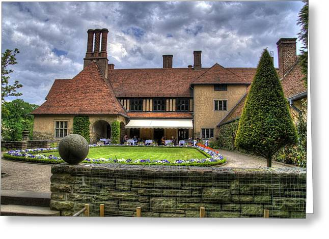 Patio Restaurant At Cecilienhof Palace Greeting Card by Jon Berghoff