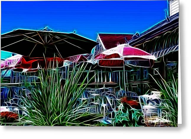 Patio Umbrellas Greeting Card by Methune Hively