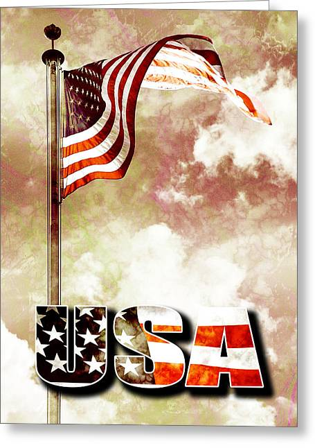 Patriotism The American Way Greeting Card by Phill Petrovic