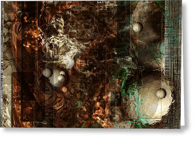 Pattern Down - Brown Greeting Card by Monroe Snook