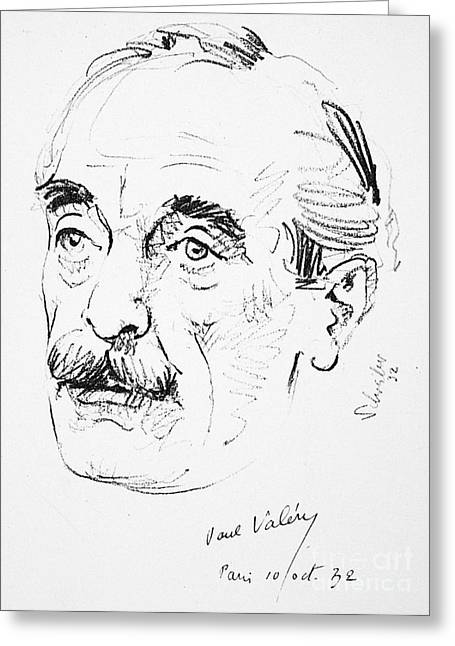 Paul Ambroise Valery Greeting Card by Granger
