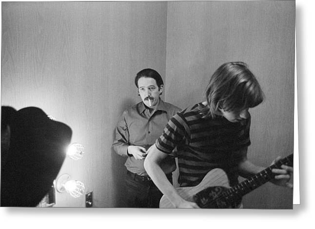 Paul Butterfield And Buzzy Feiten Fillmore East 1968 Greeting Card by Jan W Faul
